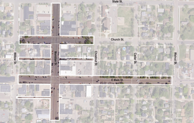 Map of potential downtown project