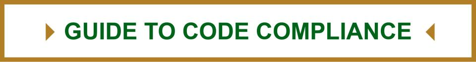 Banner for Guide to Code Compliance
