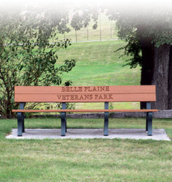 Park bench in Veteran's Park